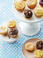 Buttermilk, Chocolate and Lemon-Coconut Chess Tarts