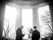 Erica Prosser and Chebon Marshall Wedding at the War Memorial in Washington, DC. <br /> <br /> PHOTOS/John Nelson