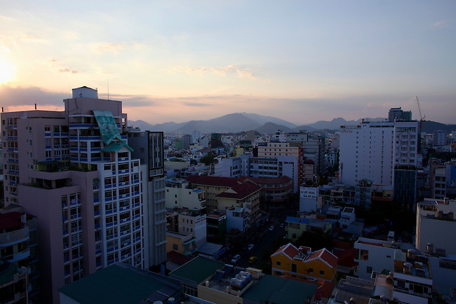 Tourist district, late afternoon. Nha Trang, Vietnam. April 22, 2016.