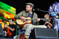 SHEPTON MALLET, ENGLAND - JUNE 24: The Orchestra of Syrian Musicians with Damon Albarn performing on The Pyramid Stage at Glastonbury Festival, Worthy Farm, Pilton, on June 24, 2016 in Shepton Mallet, England.<br /> CAP/MAR<br /> &copy;MAR/Capital Pictures /MediaPunch ***NORTH AND SOUTH AMERICAS ONLY***