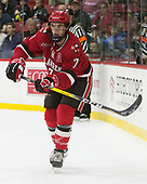 Gavin Bayreuther (SLU - 7) - The Harvard University Crimson defeated the St. Lawrence University Saints 6-3 (EN) to clinch the ECAC playoffs first seed and a share in the regular season championship on senior night, Saturday, February 25, 2017, at Bright-Landry Hockey Center in Boston, Massachusetts.