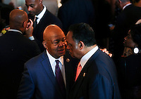 Rep. Elijah Cummings (D-MD) speaks with Rev. Jesse Jackson during a reception in honor of the opening of the Smithsonian National Museum of African American History and Culture listens, in the Grand Foyer of the White House September 23, 2016, Washington, DC. <br /> Credit: Aude Guerrucci / Pool via CNP /MediaPunch