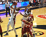 Ole Miss' Tia Faleru (32) vs. Alabama in NCAA women's basketball action in Oxford, Miss. on Sunday, January 13, 2013.  Alabama won 83-75.