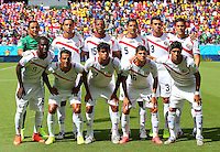 Costa Rica team group line up before kick off