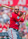 6 March 2016: Washington Nationals first baseman Clint Robinson takes a warm-up swing prior to a Spring Training pre-season game against the St. Louis Cardinals at Roger Dean Stadium in Jupiter, Florida. The Nationals defeated the Cardinals 5-2 in Grapefruit League play. Mandatory Credit: Ed Wolfstein Photo *** RAW (NEF) Image File Available ***