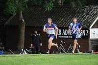 FIERLJEPPEN: GRIJPSKERK: Fierljepaccomodatie 'De Enk', 16-08-2014, ROC Friese Poort competitie 2014, Oane Galama wint met 21.16m, Thewis Hobma, ©foto Martin de Jong
