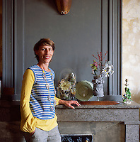 Myriam Balay Devidal, one half of Les Copirates, a French design duo creating unique pieces and objects inside her apartment in Nimes, France