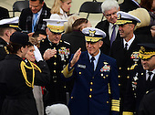 Members of the Joint Chiefs of Staff salute as they arrive for the ceremony where Donald J. Trump will be sworn-in as the 45th President of the United States on the West Front of the US Capitol on Friday, January 20, 2017.<br /> Credit: Ron Sachs / CNP<br /> (RESTRICTION: NO New York or New Jersey Newspapers or newspapers within a 75 mile radius of New York City)