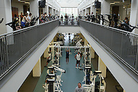 Multi-leveled exercise facilty at the University of  Virginia Aqautics and Fitness Center located on campus in Charlottesville, Va. Photo/Andrew Shurtleff