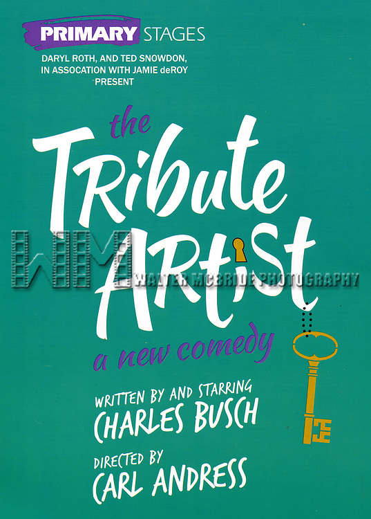 Theatre Poster for The Meet & Greet for the Primary Stages production of 'The Tribute Artist' at their rehearsal studios  on January 7, 2014 in New York City.