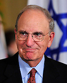 Special Envoy to the Middle East George Mitchell arrives prior to United States President Barack Obama and Middle Eastern leaders making statements in the East Room of the White House following their bi-lateral meetings  in Washington, D.C. on Wednesday, September 1, 2010.  The statements are in advance of the opening of the first direct talks in two years between Israel and the Palestinian Authority scheduled to begin at the State Department in Washington, D.C. tomorrow.  From left to right: Prime Minister Benjamin Netanyahu of Israel, President Hosni Mubarak of Egypt, President Mahmoud Abbas of the Palestinian Authority, and King Abdullah II of Jordan..Credit: Ron Sachs / Pool via CNPUnited States President Barack Obama and Middle Eastern leaders make statements in the East Room of the White House following their bi-lateral meetings  in Washington, D.C. on Wednesday, September 1, 2010.  The statements are in advance of the opening of the first direct talks in two years between Israel and the Palestinian Authority scheduled to begin at the State Department in Washington, D.C. tomorrow.  From left to right: Prime Minister Benjamin Netanyahu of Israel, President Hosni Mubarak of Egypt, President Mahmoud Abbas of the Palestinian Authority, and King Abdullah II of Jordan..Credit: Ron Sachs / Pool via CNP.(RESTRICTION: NO New York or New Jersey Newspapers or newspapers within a 75 mile radius of New York City)