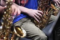 NWA Democrat-Gazette/J.T. WAMPLER Area high school students rehearse with the All-Star Jazz Ensemble, a group of high school musicians who are being trained by local jazz professionals Sunday April 9, 2017 at the Walton Arts Center in Fayetteville.