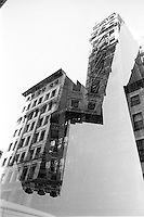 Double exposure. Street scenes, manhattan, New York, USA