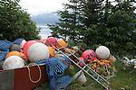 Buoys and floats in Seward
