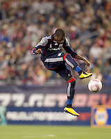 New England Revolution midfielder Sainey Nyassi (17) vollies pass forward. Real Salt Lake defeated the New England Revolution, 2-1, at Gillette Stadium on October 2, 2010.