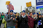 Jan. 25, 2013; University of Notre Dame students during the 2013 March for Life in Washington, D.C. Photo by Barbara Johnston/University of Notre Dame