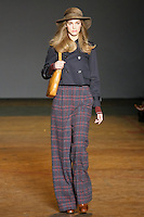 Samantha Gradoville walks runway in an outfit from the Marc by Marc Jacobs Fall/Winter 2011 collection, during New York Fashion Week, Fall 2011.