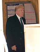 Businessman Donald Trump, a candidate for the Republican Party nomination for President of the United States, arrives to hold a press conference at the still under construction Trump International Hotel in Washington, DC on Monday March 21, 2016.<br /> Credit: Ron Sachs / CNP<br /> (RESTRICTION: NO New York or New Jersey Newspapers or newspapers within a 75 mile radius of New York City)
