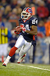 17 December 2005: Buffalo Bills special team cornerback Terrence McGee returns a kick against Denver Broncos on at Ralph Wilson Stadium in Orchard Park, NY. The Broncos defeated the Bills 28-17. .Mandatory Photo Credit: Ed Wolfstein