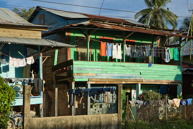 Houses in Bocas Town that demonstrate the classic Caribbean architecture of the region, Bocas del Toro, Panama
