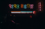 Neon sign at The Side Show bar in Hollywood, CA