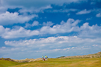 Golfers at Doonbeg Golf Club, County Clare, West of Ireland