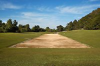 The Stadium at Olympia, 5th century BC, a view along the 212.54 metre long track - Excavation in the 19th century