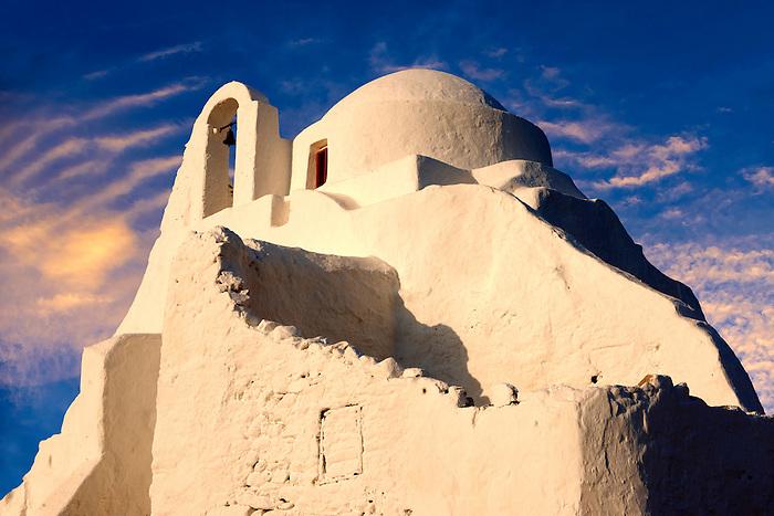 Paraportiani Greek Orthodox churches of Mykanos Chora, Cyclades Islands, Greece