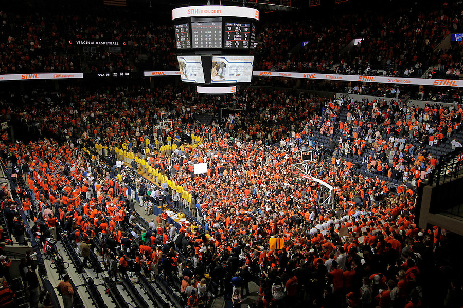 Virginia defeated Syracuse 75-56 in an NCAA basketball game Saturday March 1, 2014 in Charlottesville, VA.