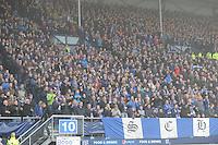 VOETBAL: HEERENVEEN: Abe Lenstra Stadion 01-11-2015, SC Heerenveen - SC Cambuur, uitslag 2-0, Heerenveensupporters, ©foto Martin de Jong