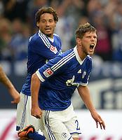FUSSBALL   1. BUNDESLIGA   SAISON 2013/2014   1. SPIELTAG FC Schalke 04 - Hamburger SV          11.08.2013 Jubel nach dem 2:2: Torschuetze Klaas Jan Huntelaar (FC Schalke 04)