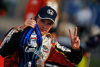11 September, 2005, Joliet,IL,USA<br /> Winner Dan Wheldon in Victory Lane.<br /> Copyright&copy;F.Peirce Williams 2005