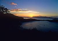 Sunset over Hawksnest Bay<br /> St. John<br /> U.S. Virgin Islands