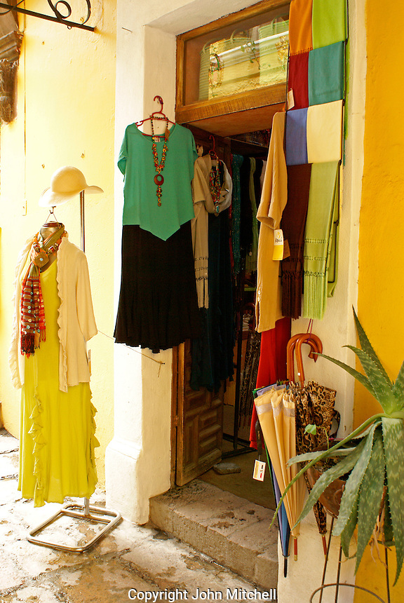 Clothing boutique  in San Miguel de Allende, Mexico. San Miguel de Allende is a UNESCO World Heritage Site....