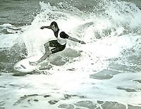 Mark Warren (AUS) during the running of the 1979 Rip Curl Pro  at Bells Beach Torquay Victoria, Australia.Photo: joliphotos.com