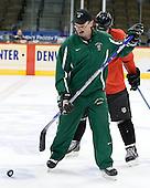 Cary Eades (North Dakota Associate Head Coach) - The 2008 Frozen Four participants practiced on Wednesday, April 9, 2008, at the Pepsi Center in Denver, Colorado.