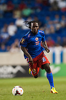 Haiti forward Leonel Saint Preux (18) Honduras defeated Haiti 2-0 during a CONCACAF Gold Cup group B match at Red Bull Arena in Harrison, NJ, on July 8, 2013.