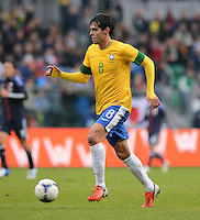 FUSSBALL   INTERNATIONAL   Testspiel    Japan - Brasilien          16.10.2012 KAKA (Brasilien) am Ball