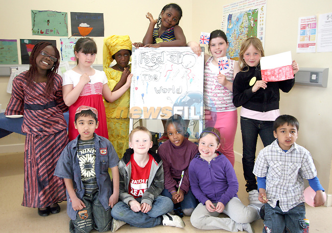 Aston Village Students at their International Food Day in connection with Louth Leader Partnership...Photo NEWSFILE/Jenny Matthews.(Photo credit should read Jenny Matthews/NEWSFILE)....This Picture has been sent you under the condtions enclosed by:.Newsfile Ltd..The Studio,.Millmount Abbey,.Drogheda,.Co Meath..Ireland..Tel: +353(0)41-9871240.Fax: +353(0)41-9871260.GSM: +353(0)86-2500958.email: pictures@newsfile.ie.www.newsfile.ie.FTP: 193.120.102.198.