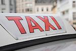 Taxi in Ghent, Belgium, Europe