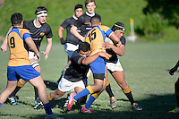 Action from the College Rugby - Wellington College v Rongotai College at Wellington College, Wellington, New Zealand on Saturday 5 July 2014. <br /> Photo by Masanori Udagawa. <br /> www.photowellington.photoshelter.com.