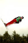 16 January 2005 - Lake Placid, New York, USA - Jeff Bean, representing Canada, competes in the FIS World Cup Aerial acrobatic competition taking Silver in the Nature Valley Freestyle Cup at the MacKenzie-Intervale Ski Jumping Complex, in Lake Placid, NY. Bean, a native of Ottawa, Ontario, trains during the summer months at the Lake Placid facility...Mandatory Credit: Ed Wolfstein Photo.