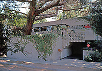 Lloyd Wright: Lloyd Wright House, 1928. 858 N. Doheny, Hollywood.  Photo '82.