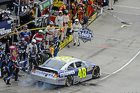 30 March - 1 April, 2012, Martinsville, Virginia USA.Jimmie Johnson and crew pit stop on pit road.(c)2012, Scott LePage.LAT Photo USA