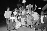 May 7th 1968, Indianapolis, Indiana,<br /> Original caption: Supporters of Senator Robert F. Kennedy celebrate after his victory in Indiana.