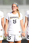 07 September 2012: Marquete's Taylor Madigan. The University of North Carolina Tar Heels defeated the Marquette University Golden Eagles 4-0 at Koskinen Stadium in Durham, North Carolina in a 2012 NCAA Division I Women's Soccer game.