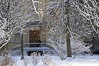 Mar. 21, 2013; LaFortune Student Center front door after a snowfall..Photo by Matt Cashore/University of Notre Dame
