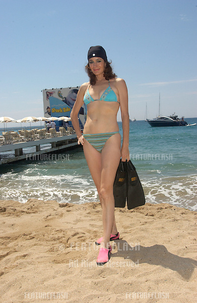 Actress SEAN YOUNG on the Carlton Beach in Cannes, France, to promote her new movie A Killer Within..May 13, 2004