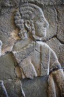 Relief panels orthostat from Sam 'al /Zincirli. Neo Syro Hittite.  Basalt around 730 BC. Pergamon Museum, Berlin.