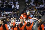 {filename base}<br /> <br /> 1311-09 Cougarettes BKB Performance, dance, orange, smiling<br /> <br /> @ BYU vs Weber State<br /> <br /> November 8, 2013<br /> <br /> Photo by Jaren Wilkey/BYU<br /> <br /> &copy; BYU PHOTO 2013<br /> All Rights Reserved<br /> photo@byu.edu  (801)422-7322<br /> <br /> Photo by Mark A. Philbrick/BYU<br /> <br /> &copy; BYU PHOTO 2013<br /> All Rights Reserved<br /> photo@byu.edu  (801)422-7322